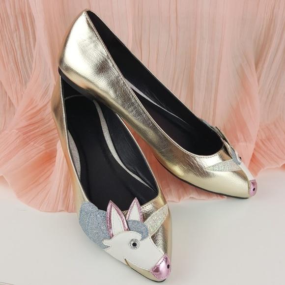 1aea3780881e98 ASOS LULAMOON Unicorn Ballet Flats NWT